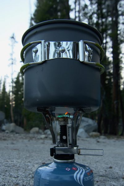 backpacking stove cooking