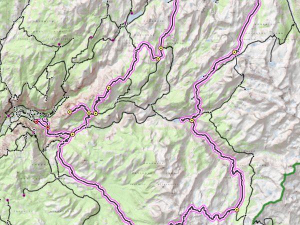 yosemite national park map route loop hike