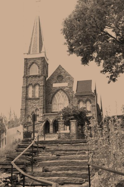 harper's ferry church vintage photography