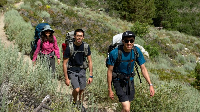 sierra nevada mountains wilderness pine creek trail backpacking