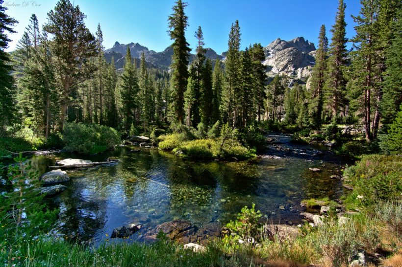 sierra nevada mountains ansel adams wilderness river