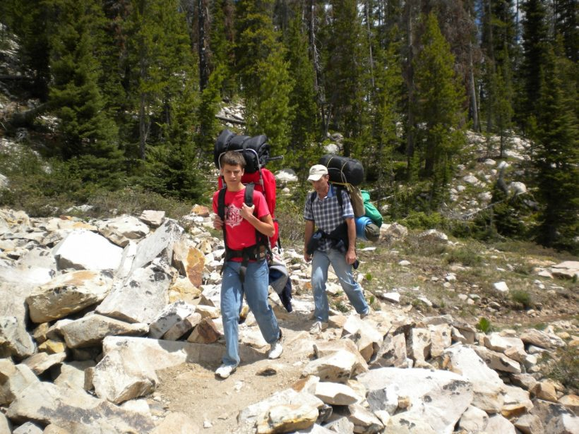 sawtooth mountains wilderness backpacking