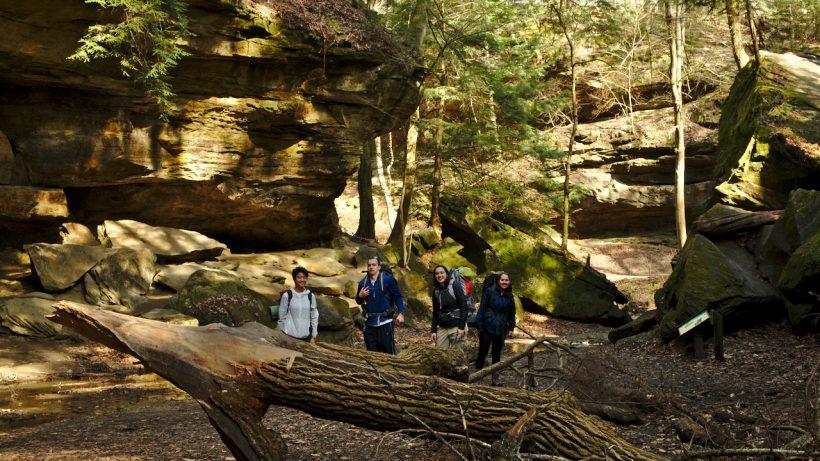 Shake down hike at Turkey Run State Park, Indiana