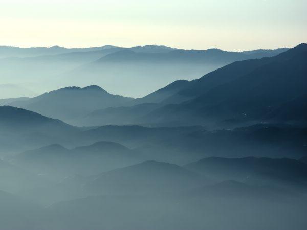 san jacinto foothill landscape mist fog