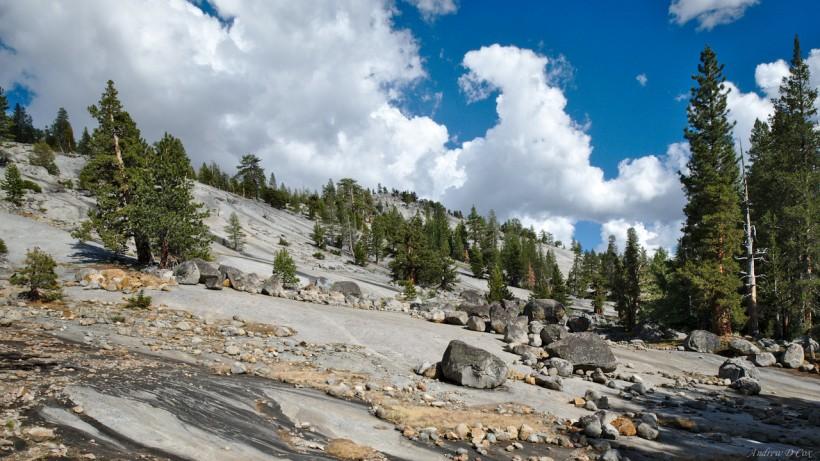 granite slopes yosemite