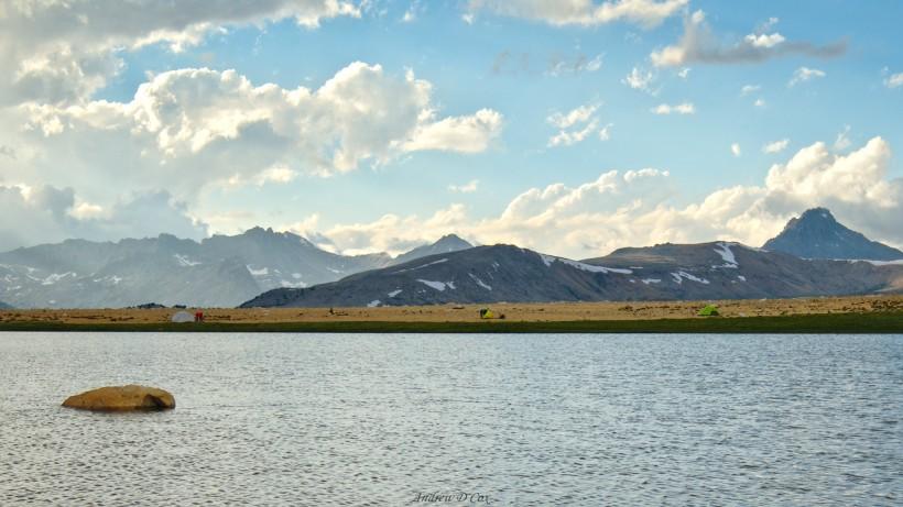 john muir trail mountains lake