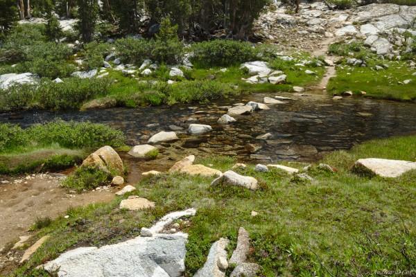 john muir trail creek crossing