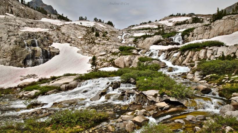 john muir trail cascades creeks streams
