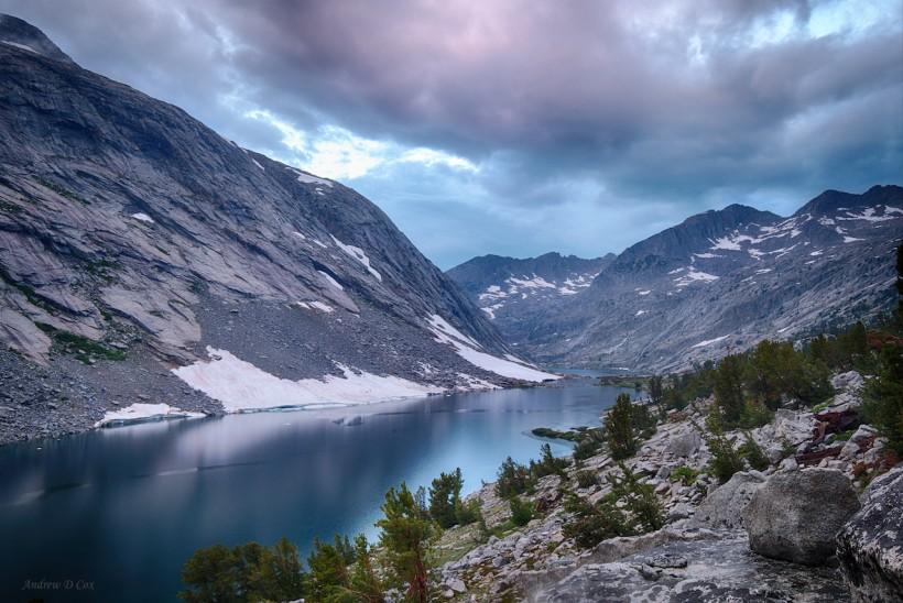 john muir trail palisade lake sunset