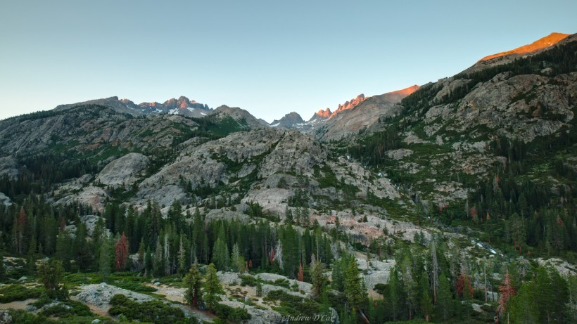 sunset alpenglow mountains