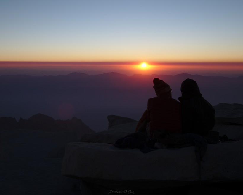 john muir trail mount whitney summit sunrise