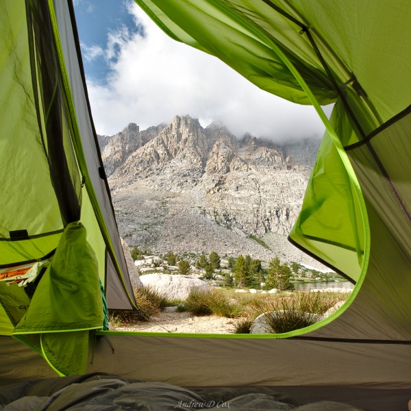 john muir trail tent evolution lake