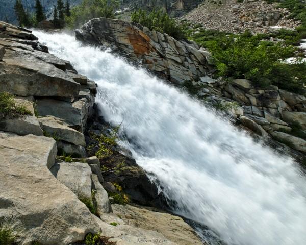 john muir trail golden staircase cascade