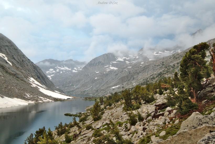 upper palisade lake john muir trail