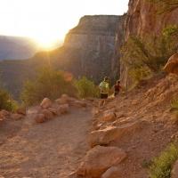 grand canyon national park sunrise hiking bright angel trail
