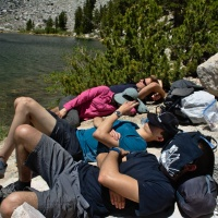 sierra nevada mountains wilderness backpacking nap