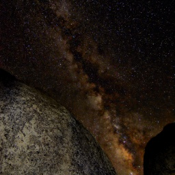 milky way astrophotography buttermilks bouldering