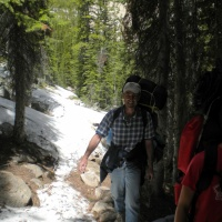 sawtooth mountains wilderness snow backpacking