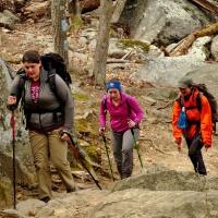Ridge Trail on Old Rag in Shenandoah National Park