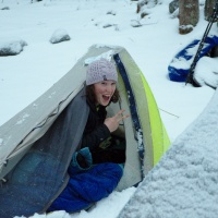winter camping backpacking