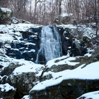 winter cascade shenandoah national park