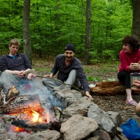 campfire camping cooking