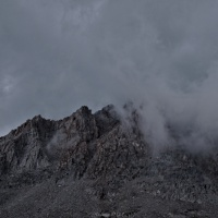 john muir trail storm clouds