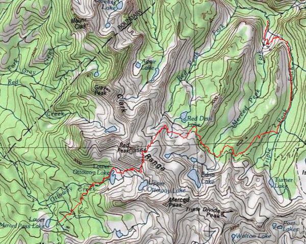 yosemite wilderness topographic map