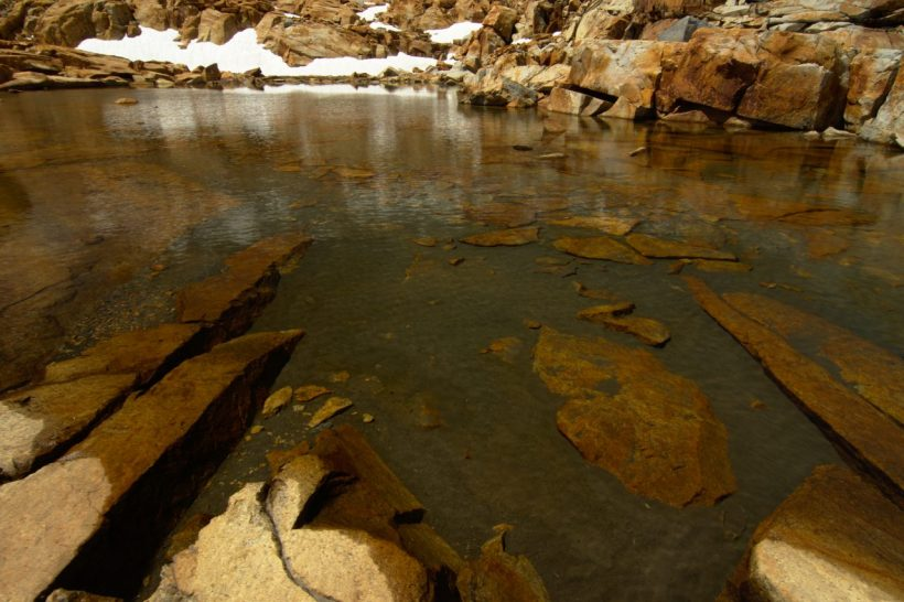 yosemite backcountry wilderness snowmelt pool water