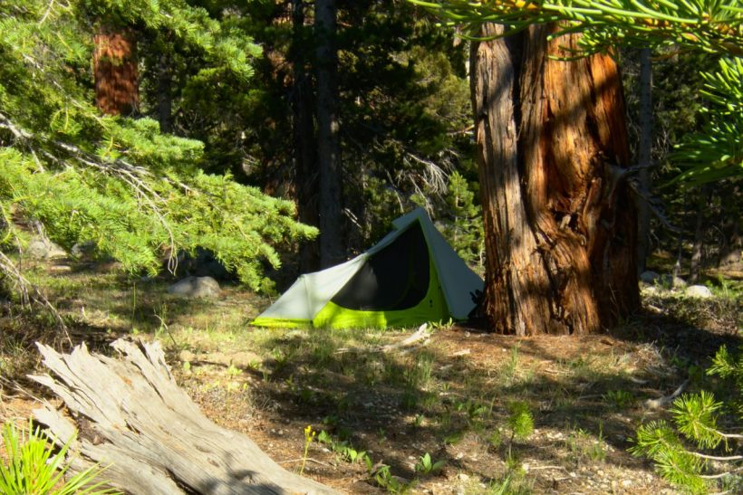 yosemite backpacking backcountry wilderness campsite