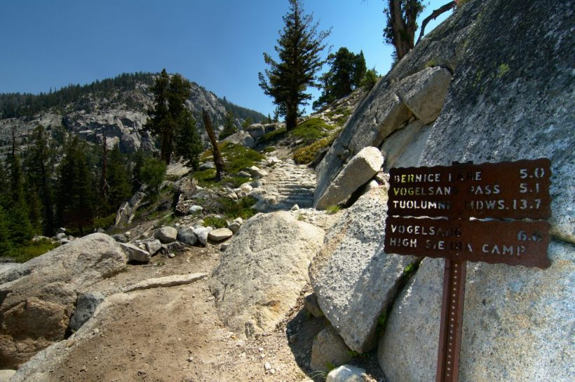 yosemite backcountry wilderness trail backpacking hiking