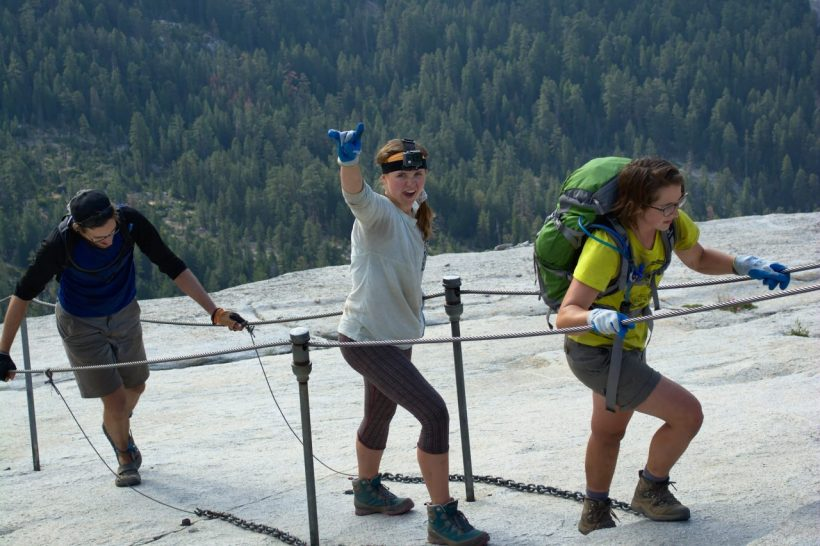 yosemite backpacking half dome cables