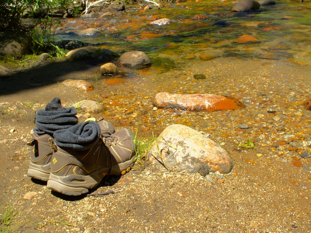 hiking shoes creek relax