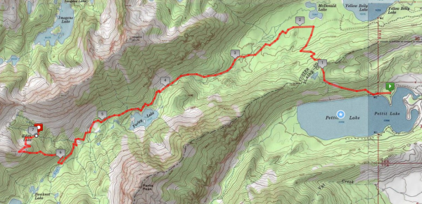 sawtooth mountains wilderness map