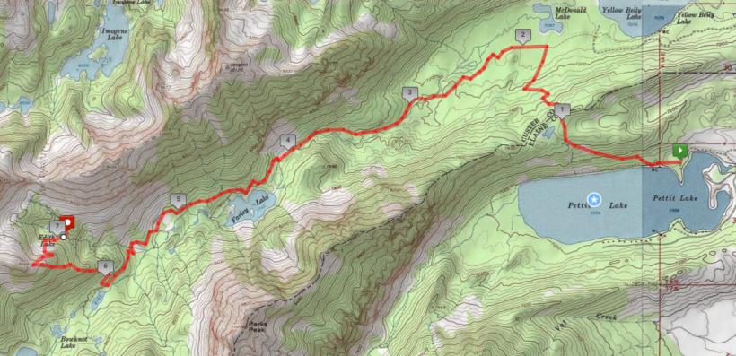 sawtooth mountain wilderness map