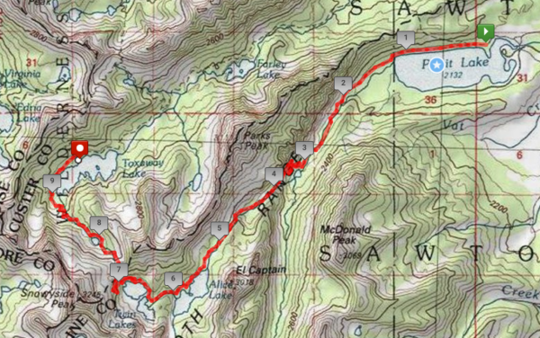 trail map sawtooth wilderness