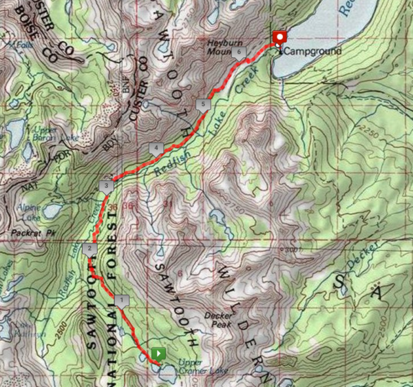 sawtooth mountain wilderness trail map