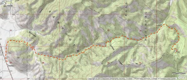 Williams Creek Trail Map