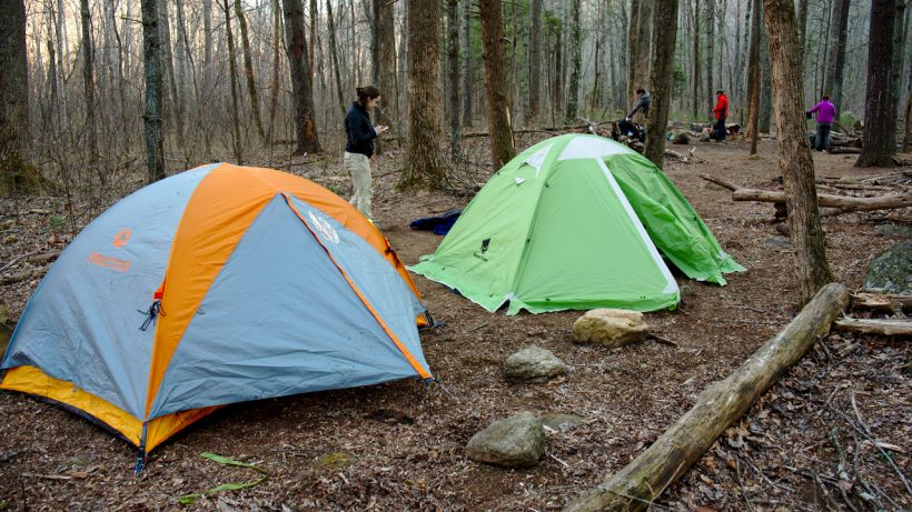 Camp in Nicholson Hollow in Shenandoah National Park
