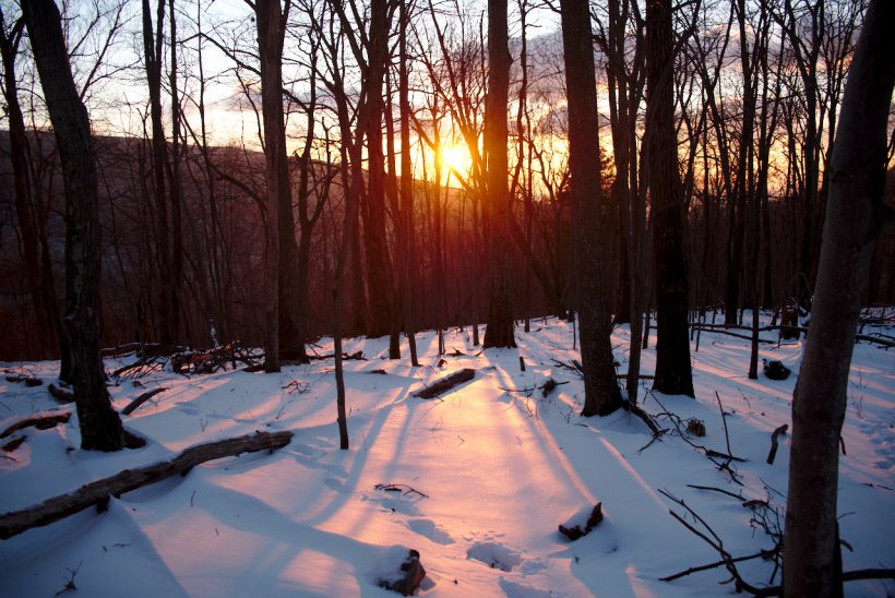 Winter sunrise in Shenandoah National Park