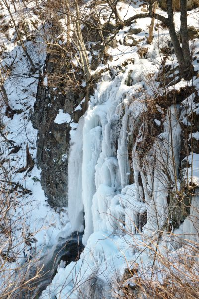 Frozen Lewis Falls in Shenandoah National Park