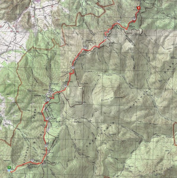 Shenandoah National Park Central Districts Highlights Route