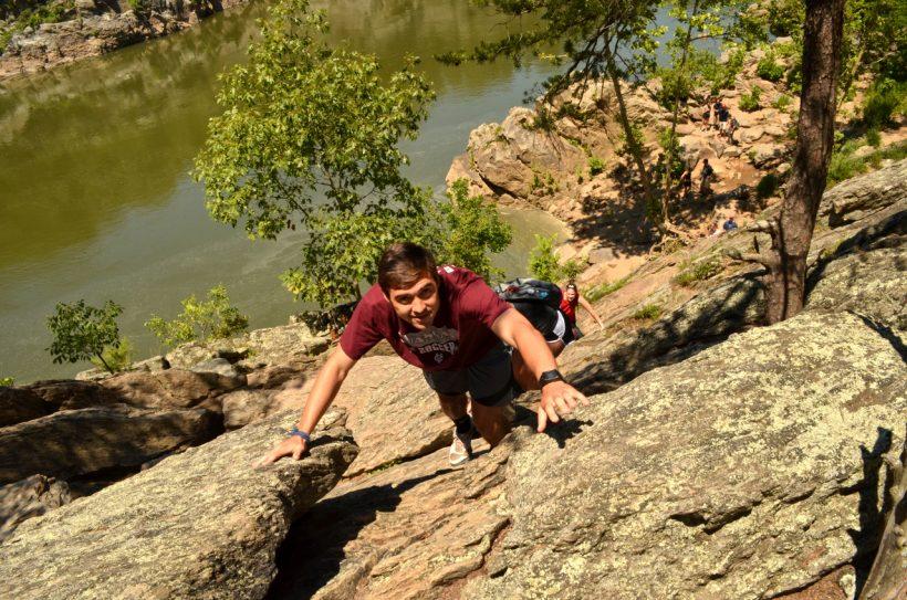 great falls hiking billy goat trail scramble