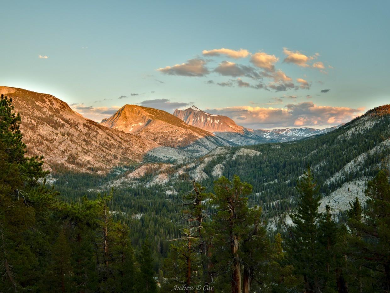 seven gables alpenglow sunset john muir trail
