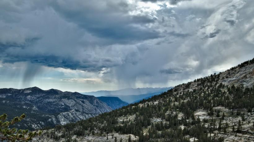 john muir trail sierra nevada rain