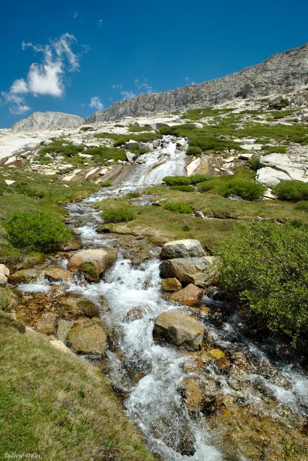 john muir trail cascade