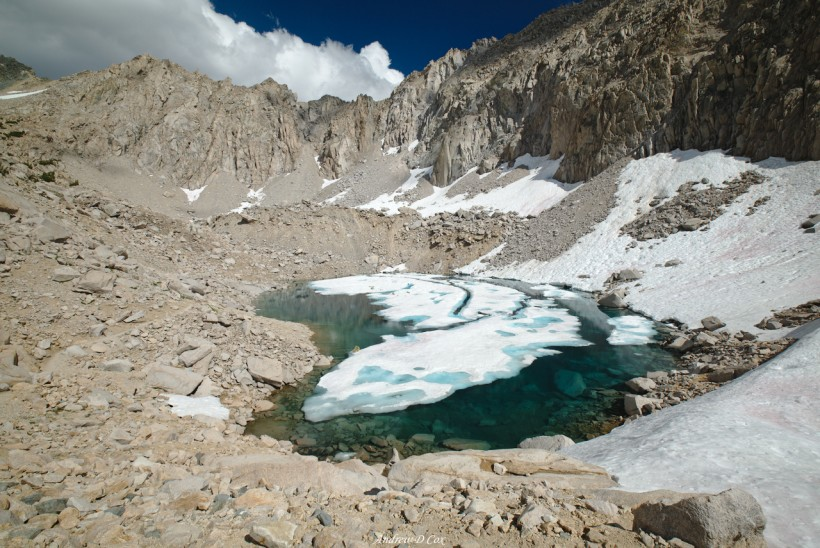 john muir trail ice lake