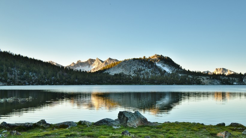 lake virginia sunrise john muir trail
