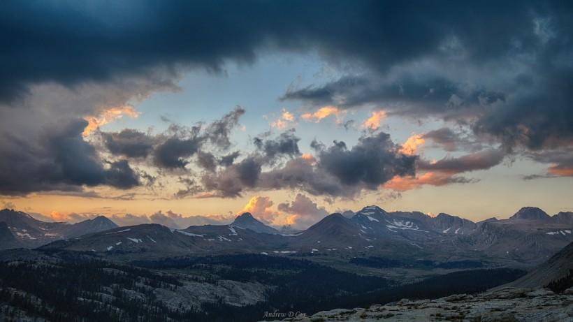 john muir trail bighorn plateau sunset