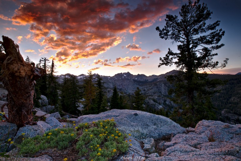 ritter range sunset clouds inyo national forest
